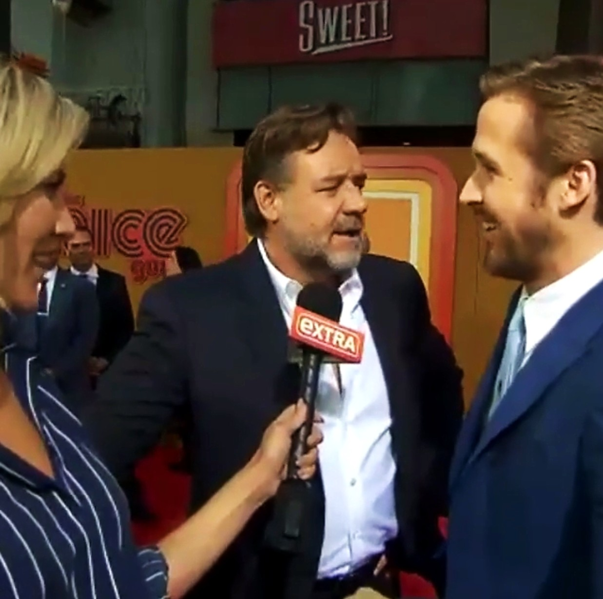 The Nice Guys, movie premiere, Russell Crowe, Ryan Gosling