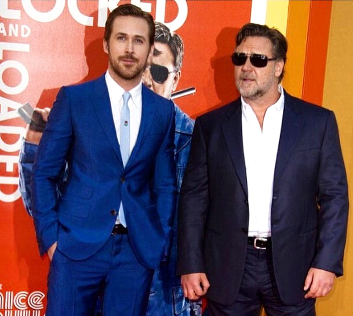The Nice Guys, movie premiere, Ryan Gosling, Russell Crowe