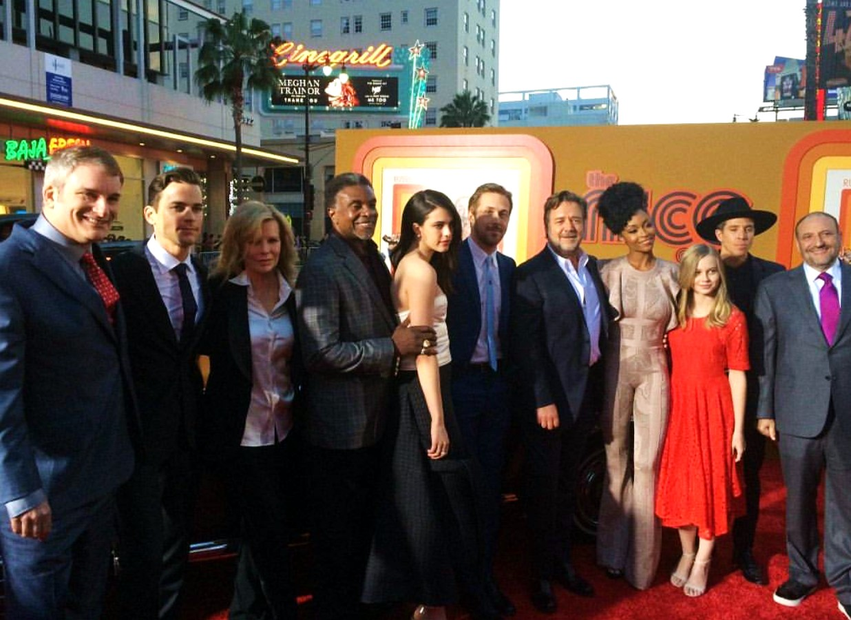 The Nice Guys, movie premiere, cast, crew
