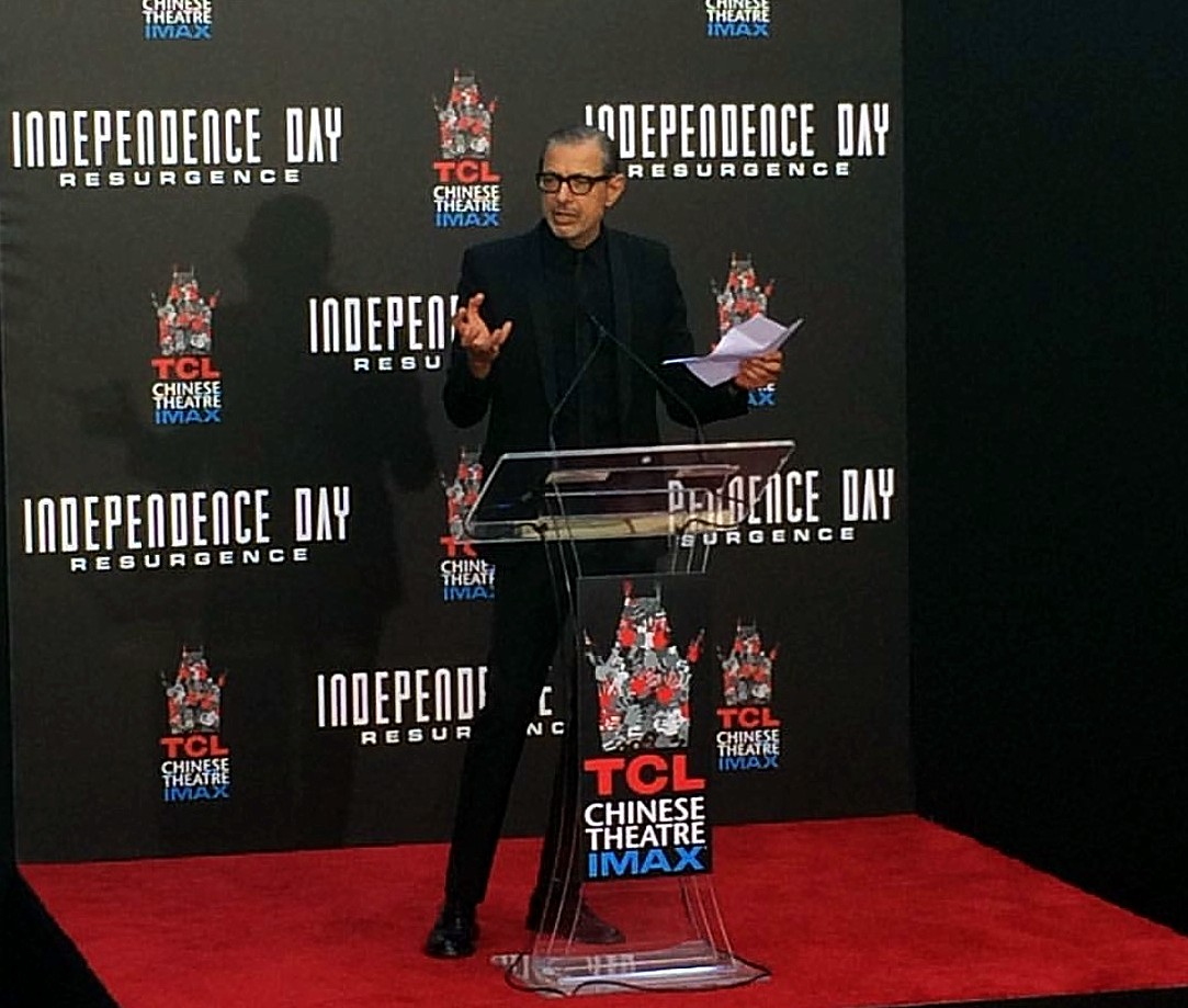 Independence Day Resurgence, Jeff Goldblum, movie premiere