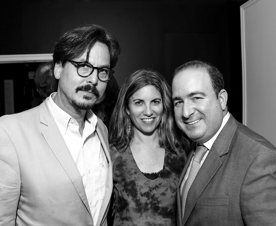 Marc Dennis, Jennifer Grausman, Steven Perelman==Cube Art Fair Intimate New York Party==Private Residence, NYC==September 1, 2016==©Patrick McMullan==Photo - Victor Hugo/PMC====Marc Dennis; Jennifer Grausman; Steven Perelman