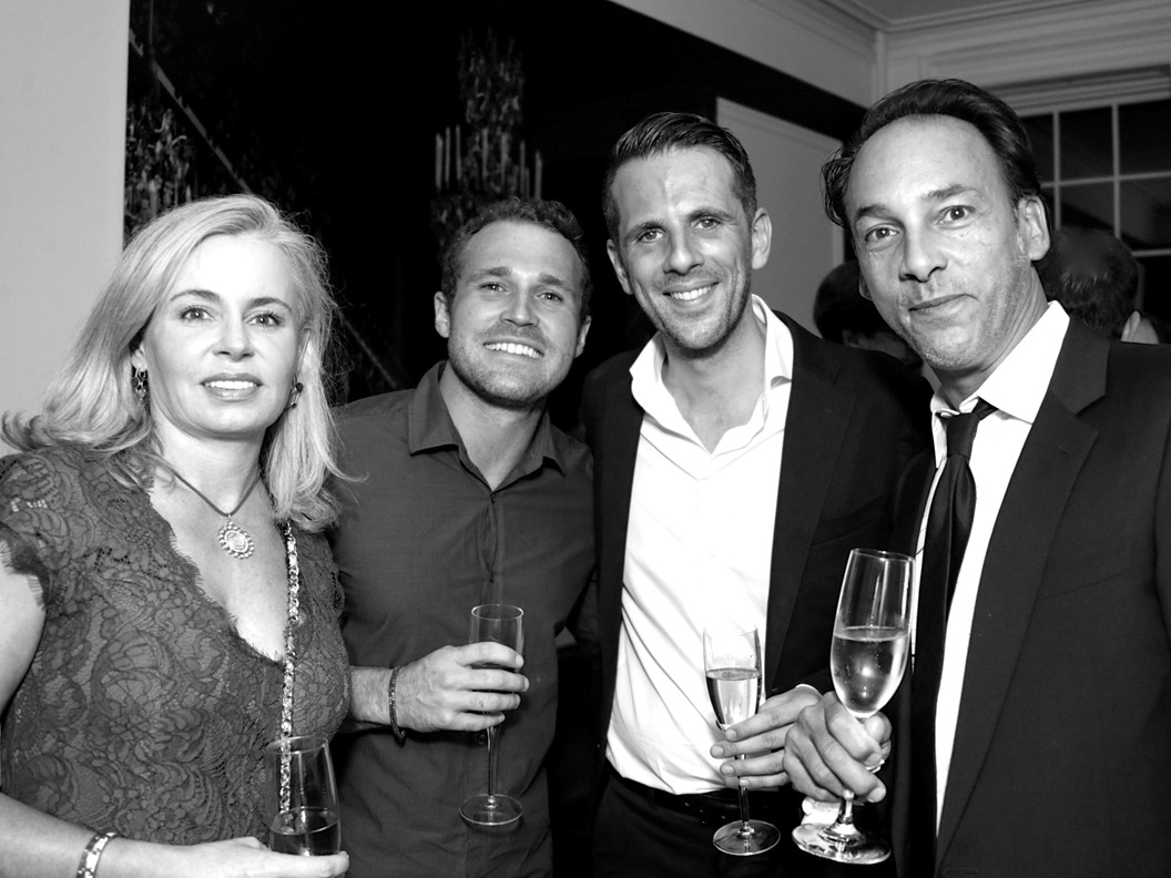 Sara Mc Namara, Brett Loving, Gregoire Vogelsang, Richard Gnouma ==Cube Art Fair Intimate New York Party==Private Residence, NYC==September 1, 2016==©Patrick McMullan==Photo - Victor Hugo/PMC== ==
