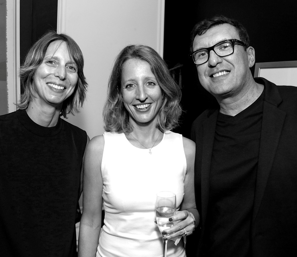 Julie Schkoda, Delphine Mauroit, Philippe Le Closier==Cube Art Fair Intimate New York Party==Private Residence, NYC==September 1, 2016==©Patrick McMullan==Photo - Victor Hugo/PMC====
