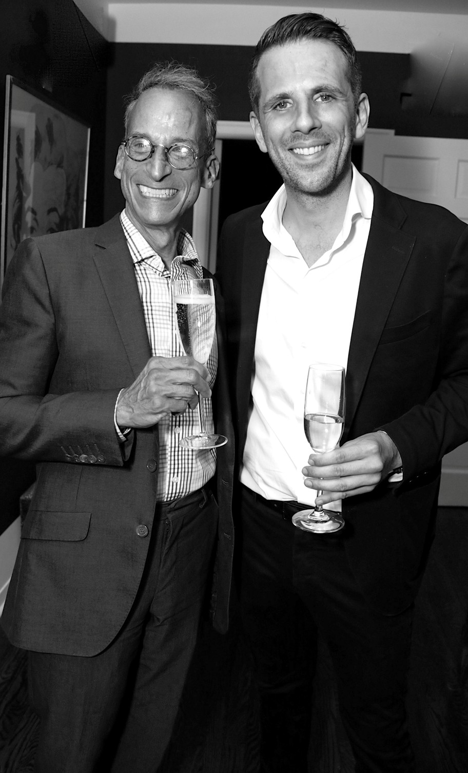 Rob Levy, Gregoire Vogelsang==Cube Art Fair Intimate New York Party==Private Residence, NYC==September 1, 2016==©Patrick McMullan==Photo - Victor Hugo/PMC====Rob Levy; Gregoire Vogelsang